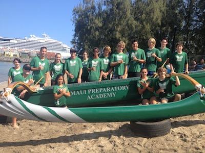 Maui Preparatory Adacemy canoe students